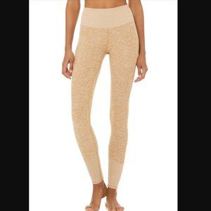 Alo High-Waist Lounge Leggings in Caramel Heather